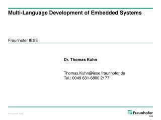 Multi-Language Development of Embedded Systems
