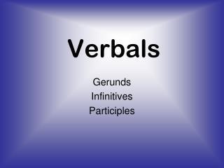 Verbals