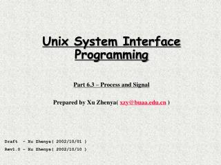 Unix System Interface Programming Part 6.3 – Process and Signal