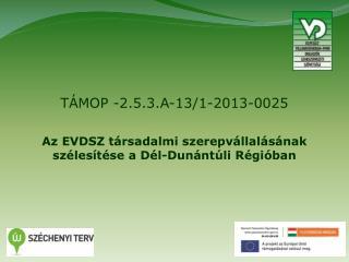 T�MOP -2.5.3.A-13/1-2013-0025