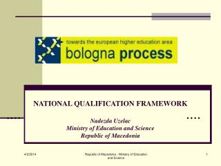 NATIONAL QUALIFICATION FRAMEWORK  Nadezda Uzelac Ministry of Education and Science Republic of Macedonia