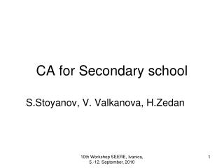 CA for Secondary school