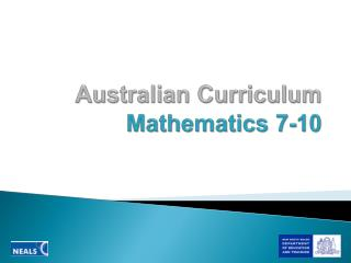 Australian Curriculum  Mathematics 7-10