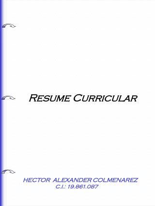 Resume Curricular