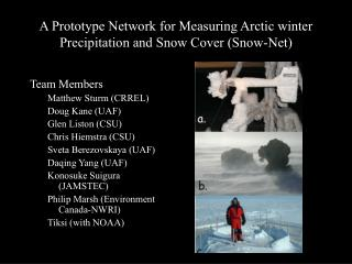 A Prototype Network for Measuring Arctic winter Precipitation and Snow Cover (Snow-Net)