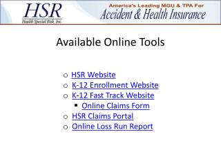 Available Online Tools