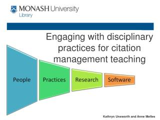 Engaging with disciplinary practices for citation management teaching