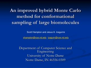 An improved hybrid Monte Carlo method for conformational sampling of large biomolecules