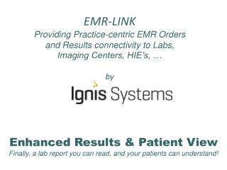 Enhanced Results & Patient View