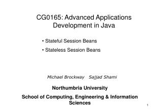 Stateful Session Beans  Stateless Session Beans