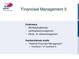 Financieel Management 3