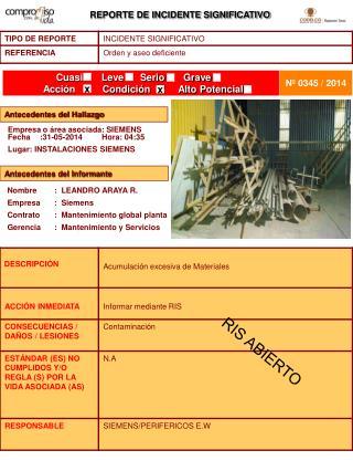 Empresa o área asociada: SIEMENS                    Fecha:31-05-2014Hora: 04:35