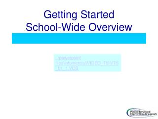 Getting Started School-Wide Overview