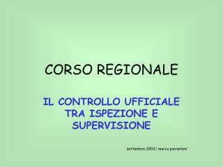 CORSO REGIONALE