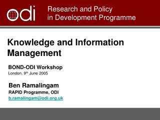 Knowledge and Information  Management