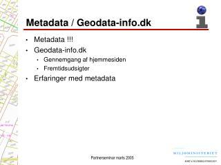 Metadata / Geodata-info.dk