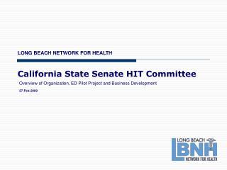 California State Senate HIT Committee