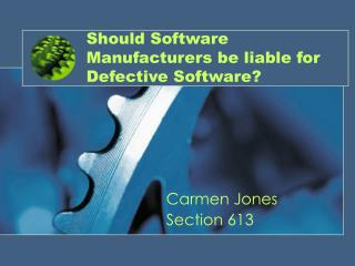 Should Software Manufacturers be liable for Defective Software