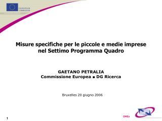 Misure specifiche per le piccole e medie imprese nel Settimo Programma Quadro