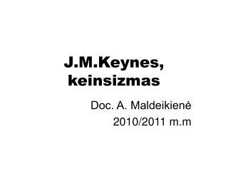 J.M.Keynes, keinsizmas