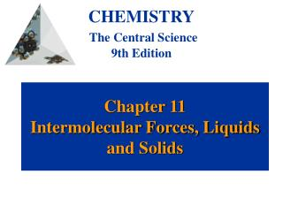 Chapter 11 Intermolecular Forces, Liquids and Solids
