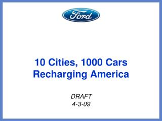 10 Cities, 1000 Cars Recharging America