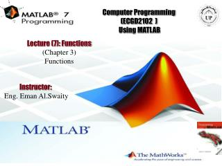 Computer Programming (ECGD2102  )  Using MATLAB