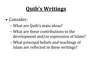 Qutb's Writings