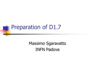 Preparation of D1.7