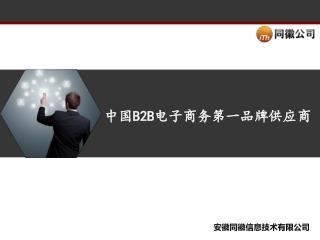 中国 B2B 电子商务第一品牌供应商