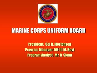 MARINE CORPS UNIFORM BOARD