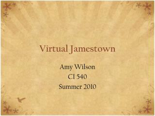 Virtual Jamestown