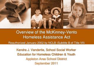Kendra J. Vandertie, School Social Worker Education for Homeless Children & Youth