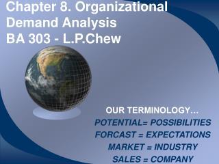 Chapter 8. Organizational Demand Analysis BA 303 - L.P.Chew