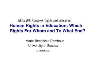 Human rights in education