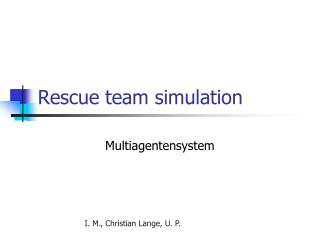 Rescue team simulation