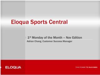Eloqua Sports Central