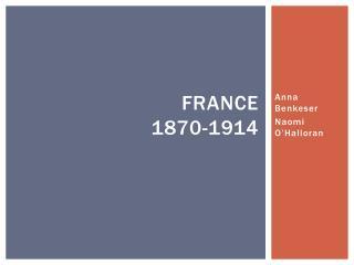 France 1870-1914