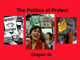 The Politics of Protest               1960 - 1980 	        Chapter 26