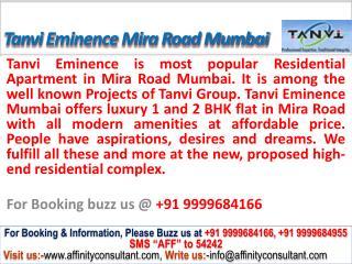 Tanvi Eminence @09999684166 Apartments Mira Road Mumbai
