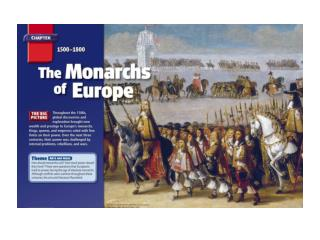 Europe Developed Into Monarchies