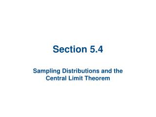 Section 5.4
