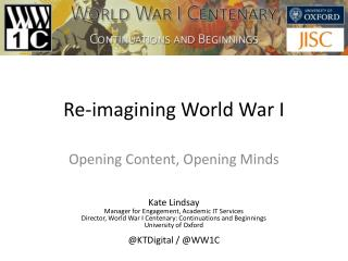 Re-imagining World War I