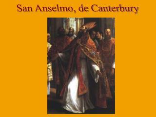 San Anselmo, de Canterbury