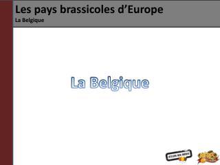 Les pays brassicoles d�Europe La Belgique
