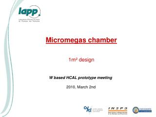 Micromegas chamber 1m² design