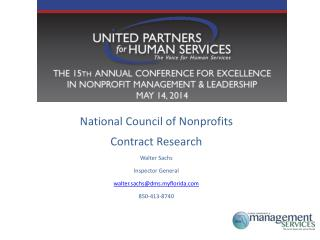 National Council of Nonprofits Contract Research Walter Sachs Inspector General