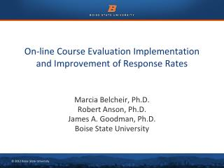 On-line Course Evaluation Implementation and Improvement of Response Rates