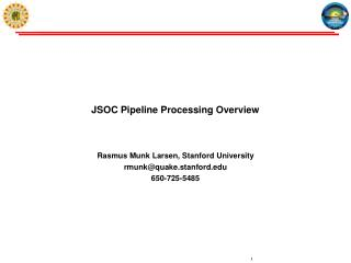 JSOC Pipeline Processing Overview