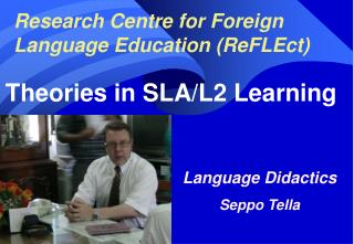 Research Centre for Foreign Language Education (ReFLEct)